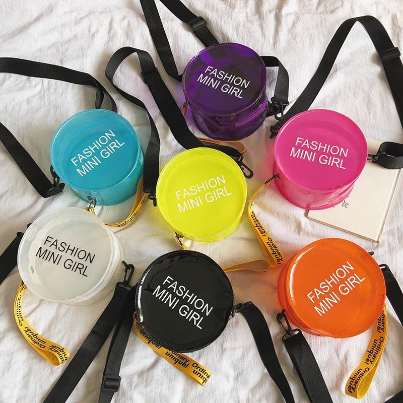 2020 년 패션 아백 투명한 젤리형 어린이는 부대 비치 가방 숄더백 어린이 메신저 가방 캐주얼 아이들의 가방이 지갑 B1297