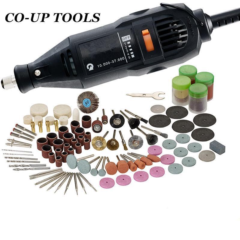 220V 180W EU Plug pour vitesse variable électrique outil rotatif Mini Drill avec accessoires