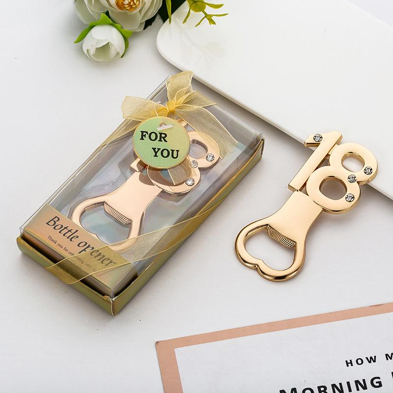 Birthday Anniversary Decoration Gifts Bottle Opener For 18th Birthday Wedding Anniversary Party Supplies Free DHL 1547