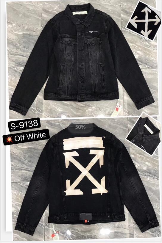 2020 white Men's Denim Jacket high quality fashion Jeans Jackets Slim casual streetwear Vintage off Mens jean clothing Size M-2XL gg001