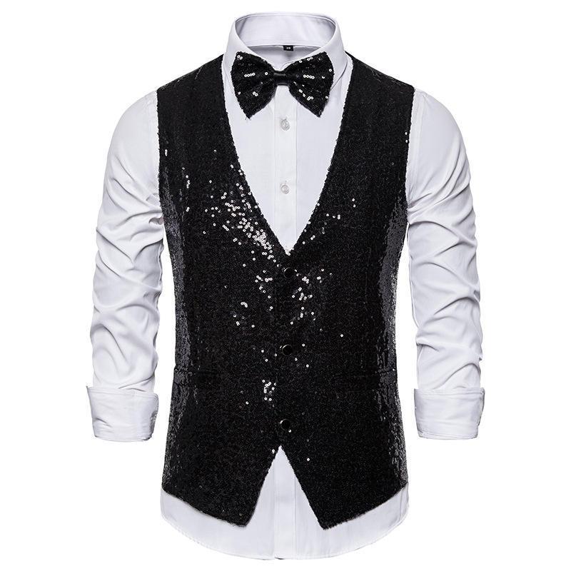 Mens New Designer Pailletten Blazer Ärmel V- Ausschnitt Einreiher Anzüge Regular Knopf Fly Fashion Style Clothings