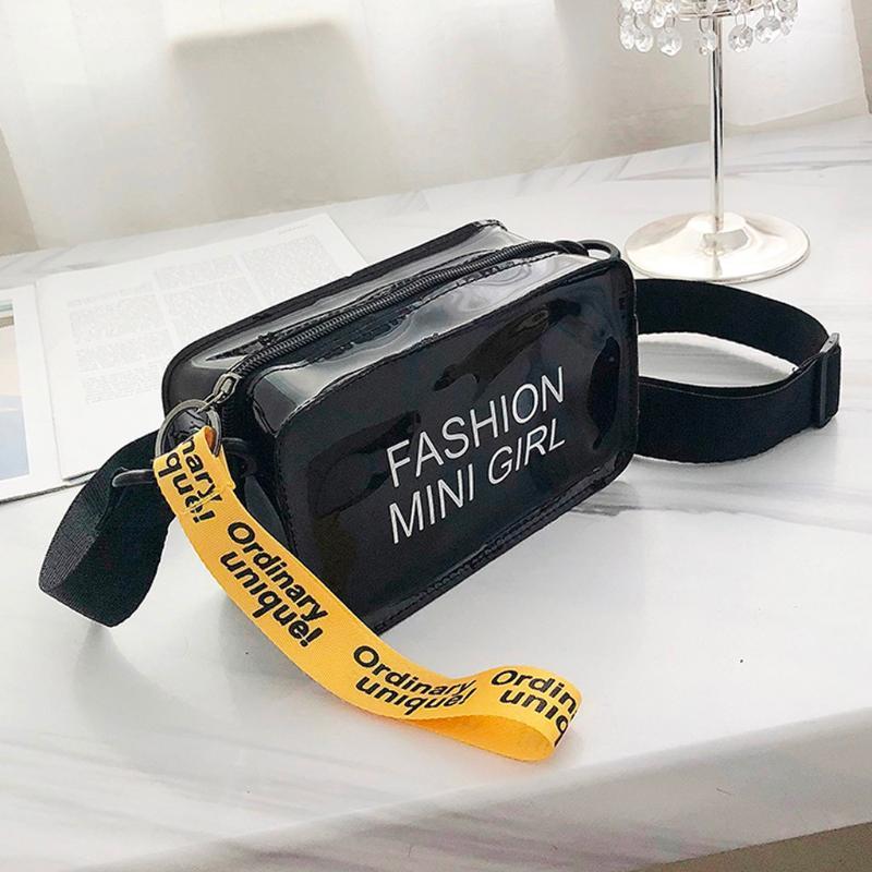 Sac à bandoulière Causual transparent Pvc sacs transparents femme Sac à bandoulière petit téléphone Sacs avec Porte-cartes larges bretelles Bolsa #YJ