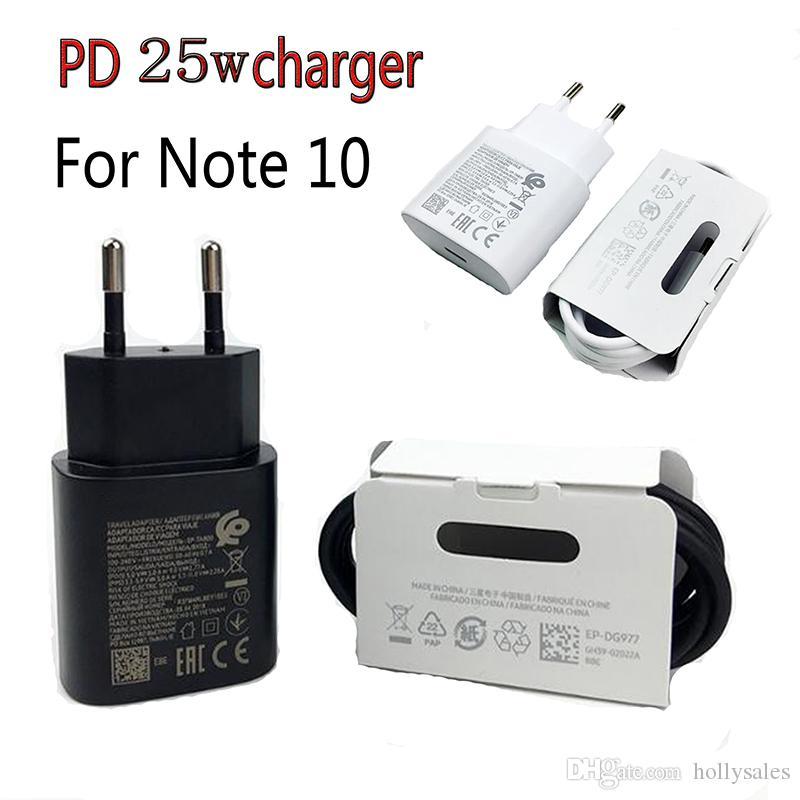 لمذكرة 10 شاحن سوبر شحن سريع 25W PD محول الطاقة USB نوع C إلى C USB كيبل QC3.0 السريع الحبل تهمة