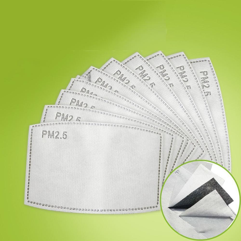 5 strati filtranti Mascherine PM2.5 FILTRO A CARBONI respirazione inserto protettivo Facemask PM2.5 Filtro