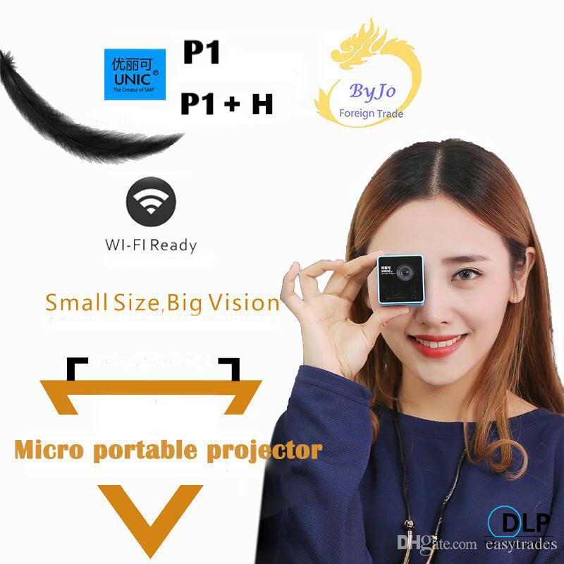 Original UNIC P1 + H WIFI Wireless Mobile Projektor Unterstützung Miracast DLNA Pocket Home Filmprojektor Proyector Beamer
