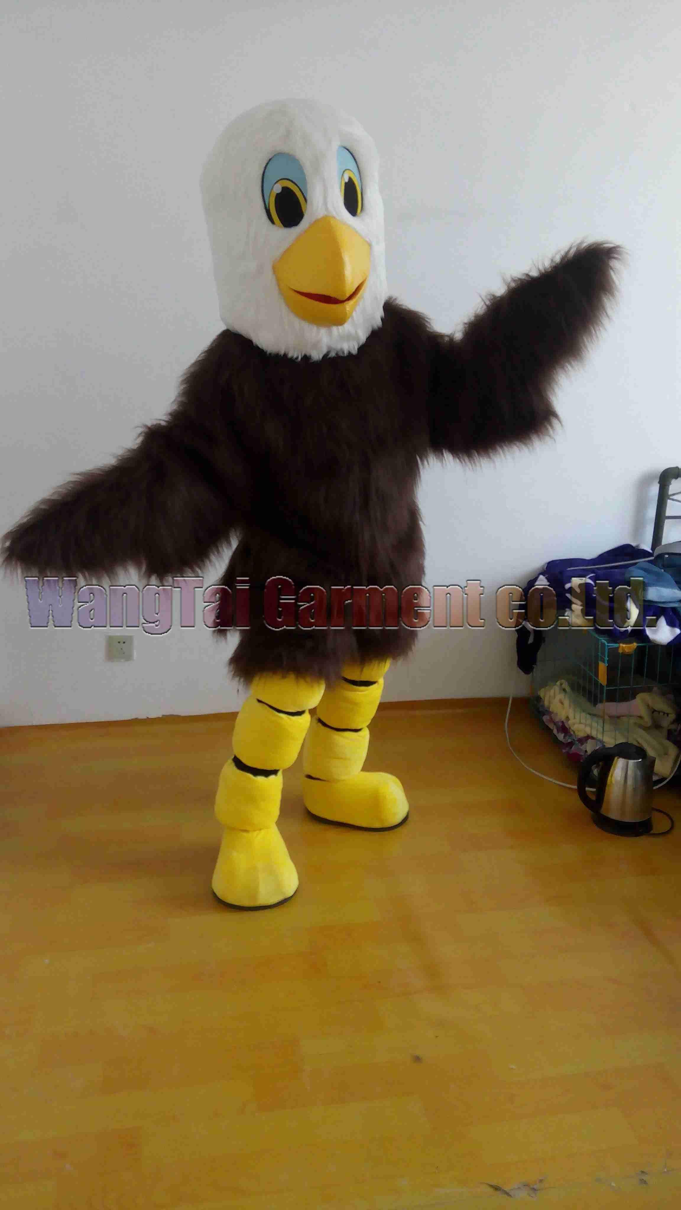 Junge Adler-Maskottchen-Kostüm-freies Verschiffen Erwachsene Größe, Vogelmaskottchenklage Plüschtier Karneval Anime-Film klassischen Cartoon-Maskottchen Fabrikverkäufe.