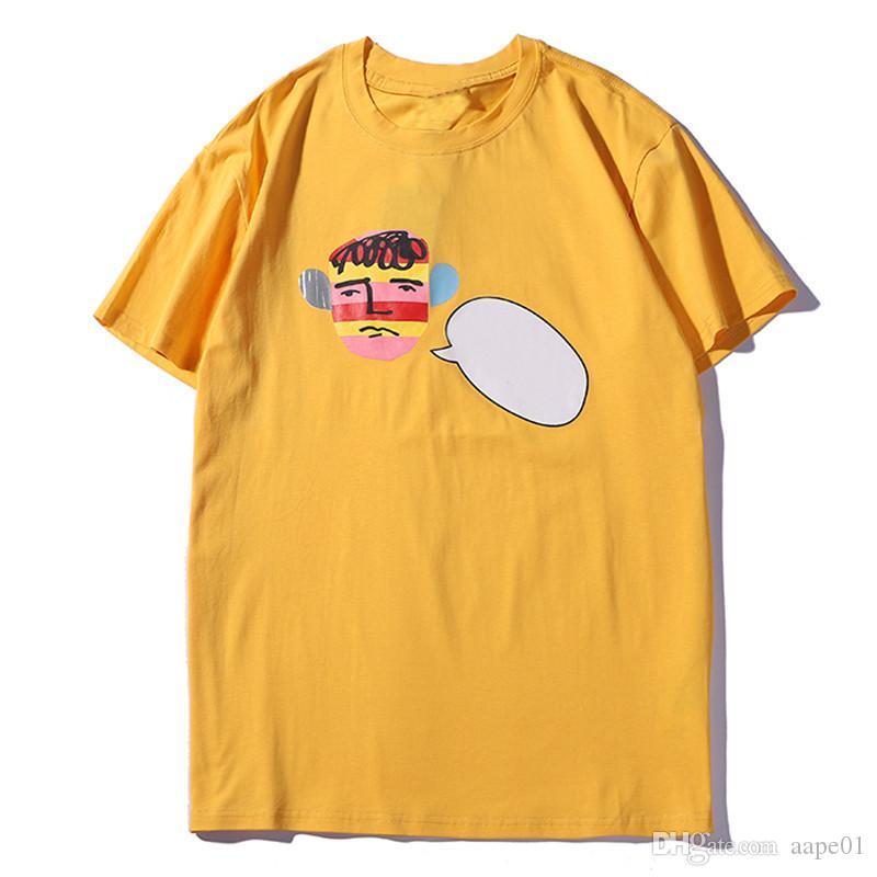 Di lusso degli uomini del progettista maglietta nuovi uomini di arrivo delle donne di fumetto di alta Stampa manica corta moda Mens Tees Designer 3 colori S-2XL