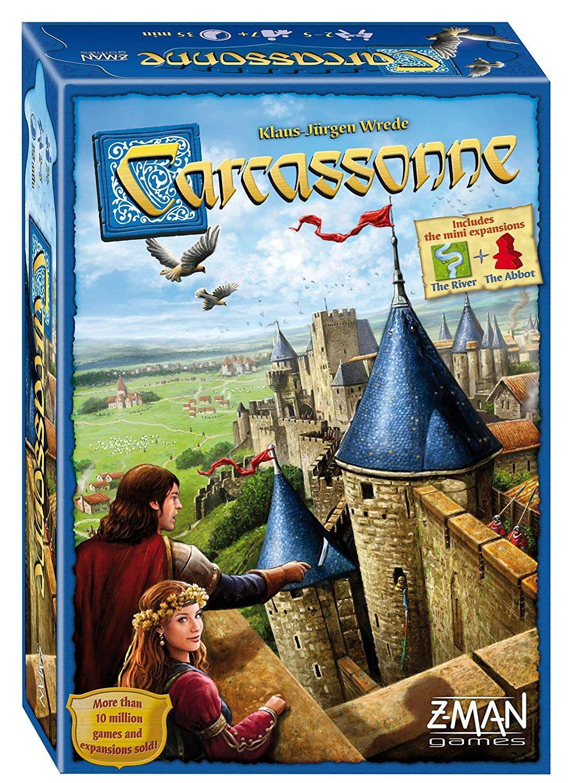 Carcassonne jogo de tabuleiro para festa / família / amigos fácil de jogar 2-5 jogadores jogo de cartas