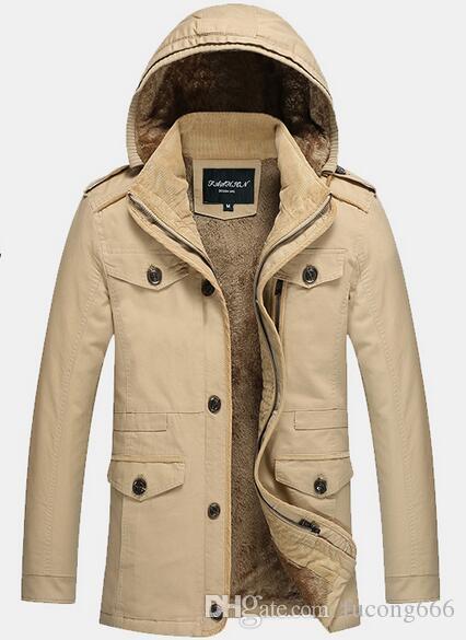 Freies verschiffen 03 mode warme herrenjacke jacke plus samt dicke koreanische version der herbst und winter modelle große männer casual w