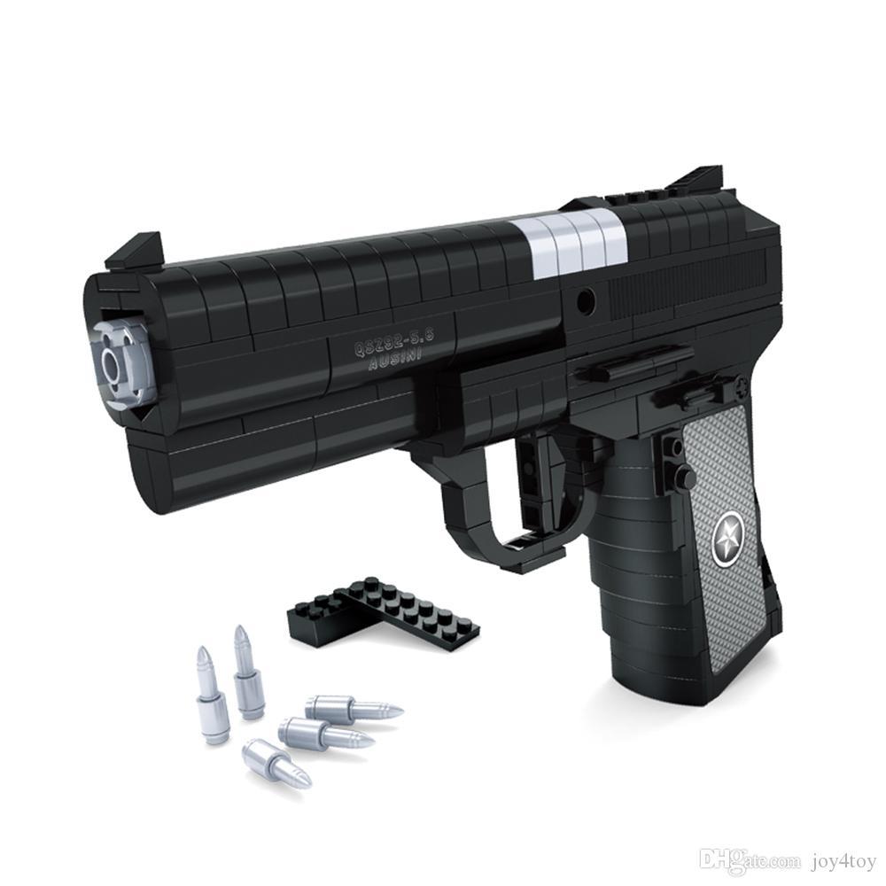 Desert Eagle Block Gun Puzzle Toys Children Toy Gun Educational Toys Kids Set