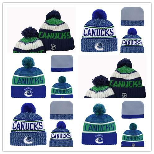 Vancouver C a n u c k s fashion Knitted hat Cotton Windbreak gorro skiing beanies Keep out the cold Winter heating Winter Beanie Hats cap