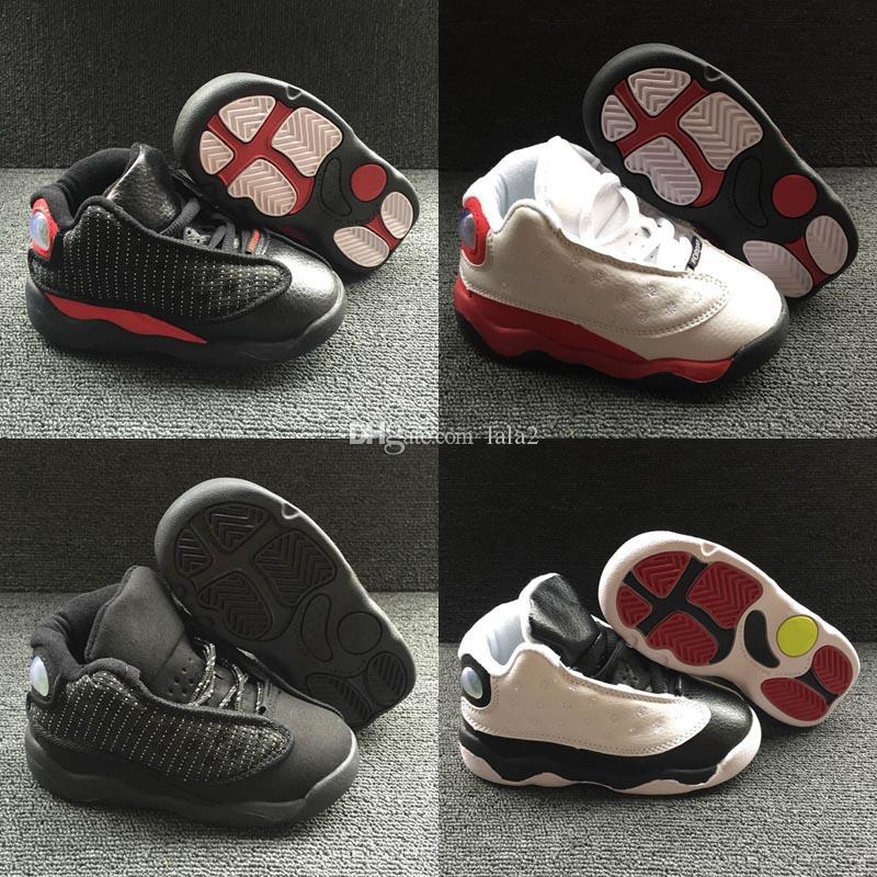 Ucuz Çocuk Jumpman 13 XIII Basketbol Ayakkabıları Çocuklar 13 s Spor Erkek Kız Gençler Küçük Bebek Atletik Sneakers bebek doğum günü hediyesi 22-27