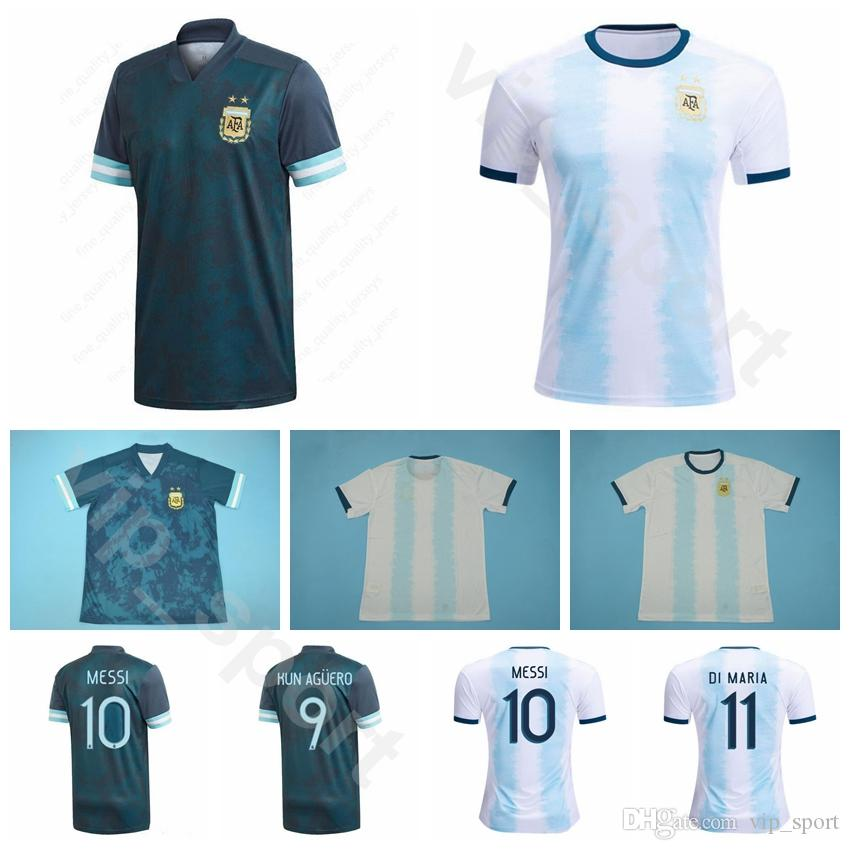 2020 Argentina Soccer 10 Messi Jersey 9 Aguero 17 Otamendi 20 Lo Celso 4 Saravia 6 Pezzella di Maria Camisa de futebol Kits S-XXL