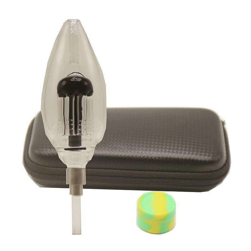Dab Honey Bird Delux Honey Straw Pro Kit Glass Bong With 510 Ceramic Quartz Nail Dab Rig Glass Hand Pipes Bongs