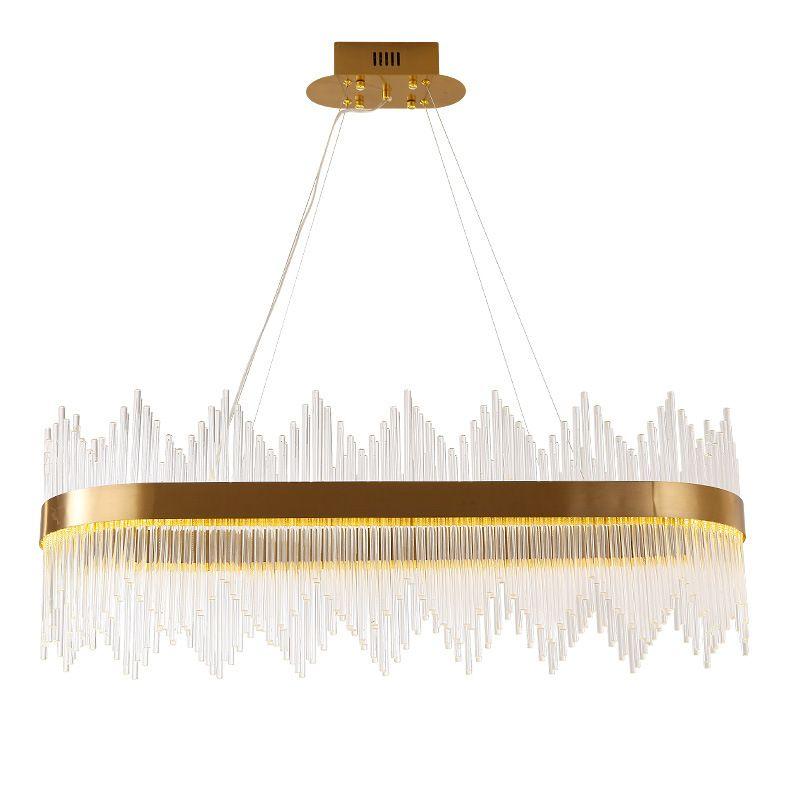 Современные Gold Luxury Кри подвески Главная Гостиная Висячие Подвеска лампы Потолочный светильник PA0523