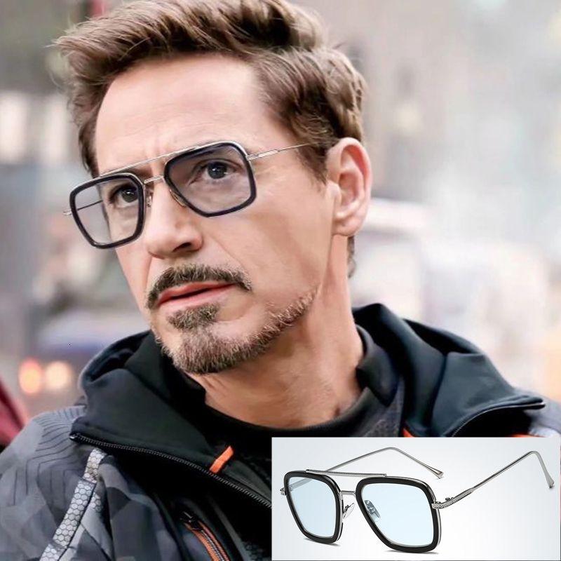 Tony NODARE 2020 Moda Avengers Stark Volo 006 Style Sunglasses Men Square Brand Design Occhiali da sole Oculos De Sol 66218