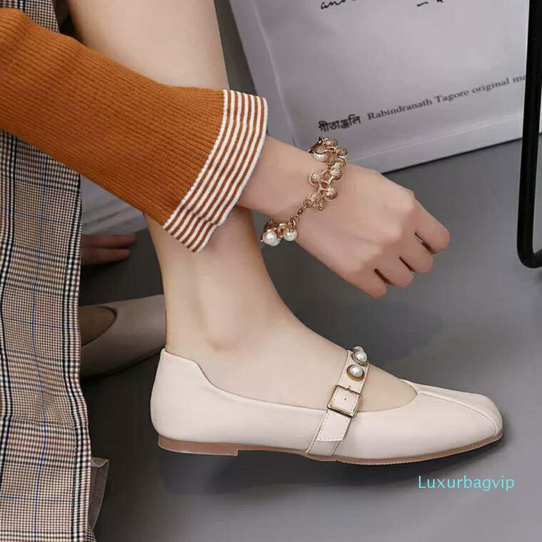 Горячая распродажа-классическая Повседневная обувь весна лето мужская женская повседневная обувь Мода кожа зашнуровать квартиры обувь с коробкой