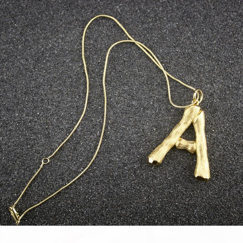 Подвески Женщина золото Письмо ожерелье Женщины Женщины 14k золото Ожерелье богемского Fine Jewelry