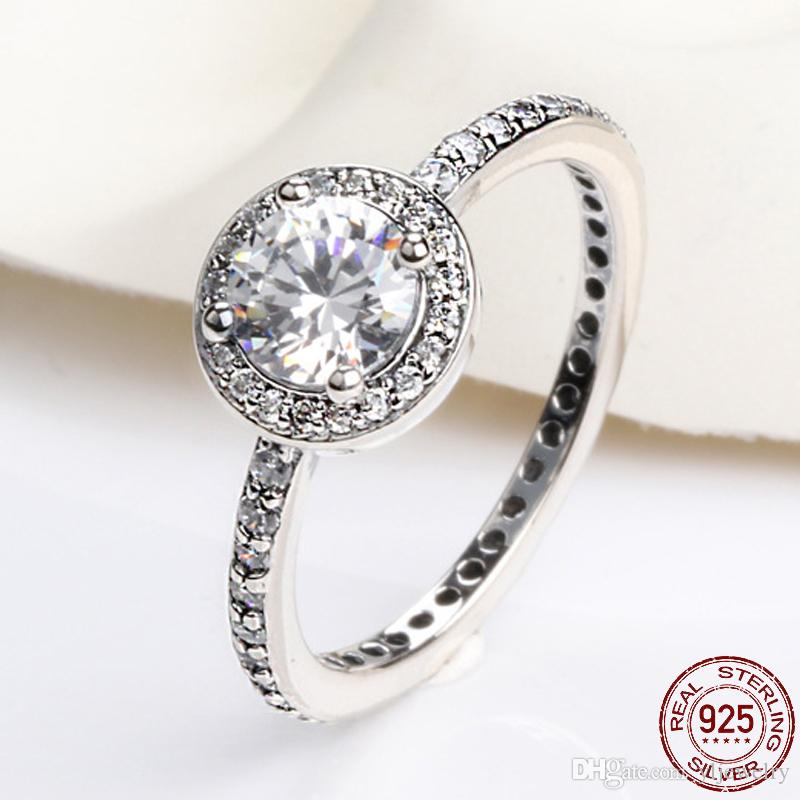 Fashion Thai Silver Full Micro Inlay Ring Ladies 925 Sterling Silver Ring Fine Jewelry Party Women's Ring XR251