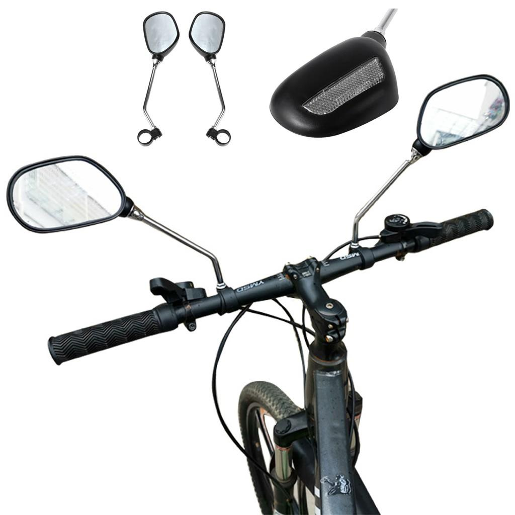 Rear Tail Safety Warning Cycling Portable Light Mountain Bike Road Bike Bicycle Rearview Mirror Rearview Mirror 2PCS#g30