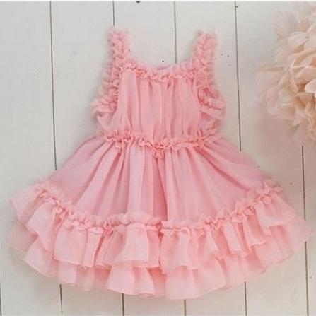 Vieeoease Девушки одеваются Цветок Детская одежда 2020 Летняя мода оборками ремни кружева Туту платье принцессы KU-006