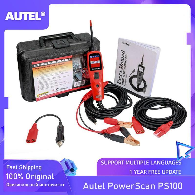 العروض AUTEL PowerScan PS100 أنظمة كهربائية 12V / 24V التشخيص الفاحص حلبة أداة الكهربائية اختبار اختبار