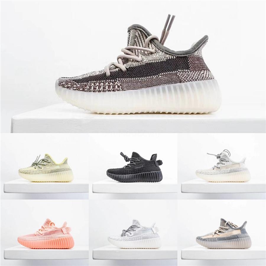 Kanye West V2 Negro estática del bebé niños de los zapatos corrientes True Form Hyper Wave Runner arcilla Zapatos Beluga blanco reflectante Deportes Niño Niña chivato # 979