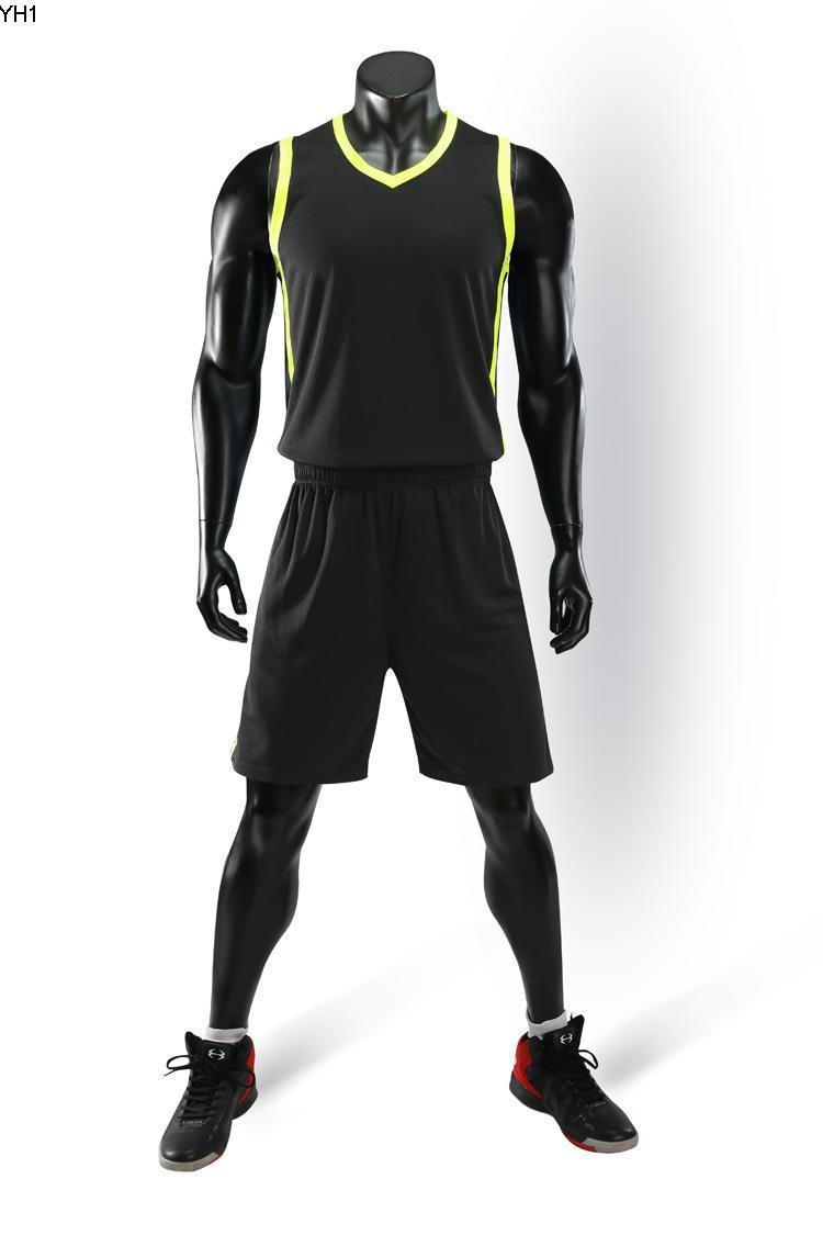 2019 Nouveaux maillots de basket-ball blanc imprimé logo taille Hommes Prix de pas cher S-XXL expédition rapide de bonne qualité A006 BLACK B002nQ