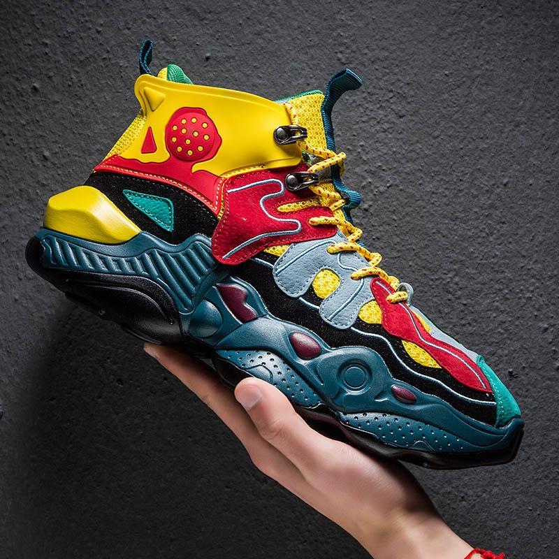 Hip Hop Basketbol Ayakkabıları Erkekler Kalın Sole Lebron Sneaker Retro Sokak Dans Gelgit Marka Tenis De Basquete Geri Gelecek Boost