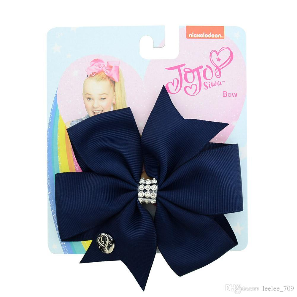 11CM JoJo bow kids Hair accessories baby hairpin Girl gift handmade fishtail cut ribbed ribbon fishtail bow hairpin child headdress 882