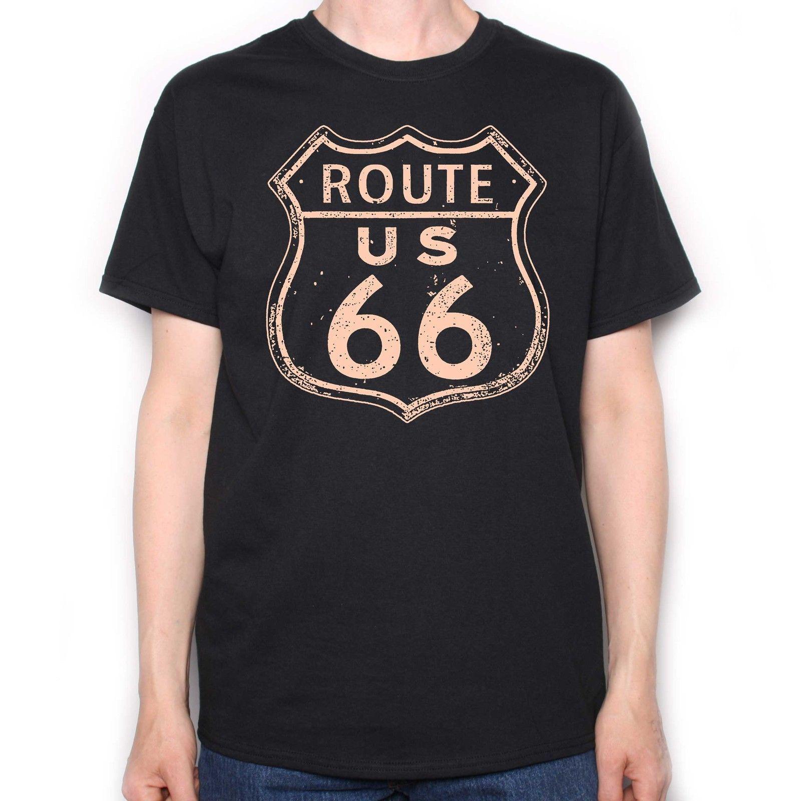 Route 66 Women T-Shirt 100/% Cotton Tshirt