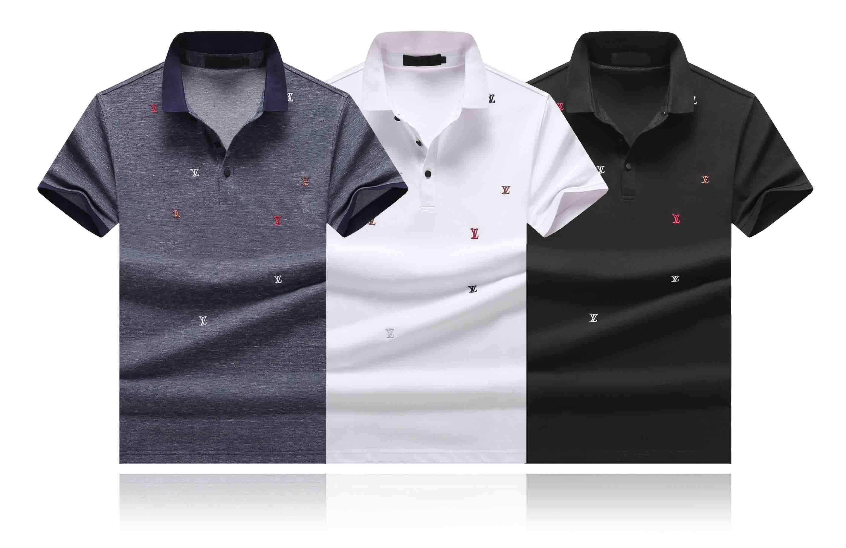Trova benzetme sıcak Tasarım en yeni Moda gündelik uomo Tişört Maschio medusa Uomo serpente KÖPEK Lettera Polo Shirt Tee Gömlek Tops