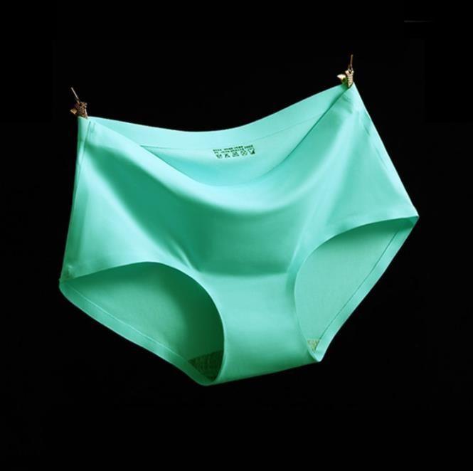 2018 Ice Soie Satin Dames Coton Sexy Plus La Taille Filles Taille Basse Sans Soudure Culotte Pour Sous-Vêtements Femmes Culottes De Printemps