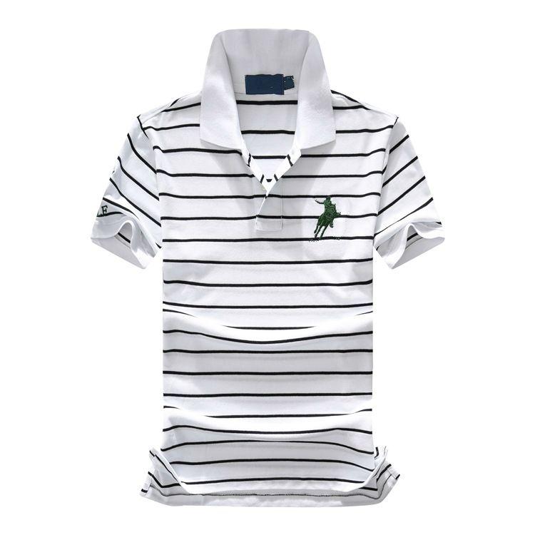 Mens Designer Polo Homens de manga curta listrada lapela camisa polo Moda respirável Commute Negócios Tees 3 cores Tamanho S-2XL