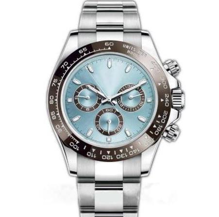 New Mens Movimento automático do relógio de cerâmica moldura Sapphire vidro TONA Series M116519 simples Dial aço inoxidável sólido Relógios Fecho Masculino