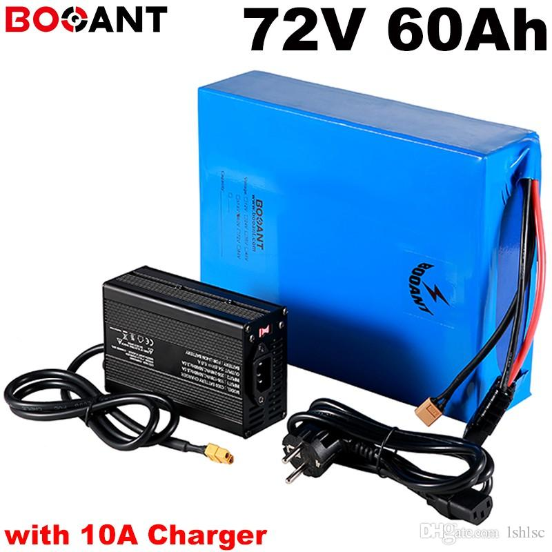 with 10A Charger 20S 72v 60ah 3000w electric bike battery for Samsung 18650 cell 72v 5000w 7000w scooter battery +100Amps BMS