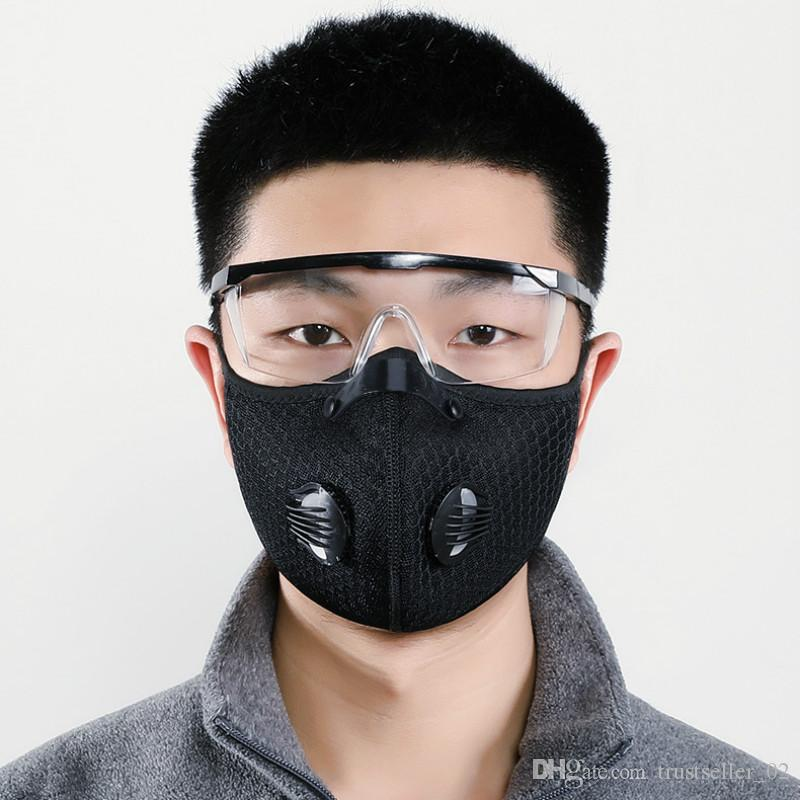 in stock!!!Mesh dust/gas mask with dust cover, cycling mask outdoor smog protection for men and women adjustable respirator mask