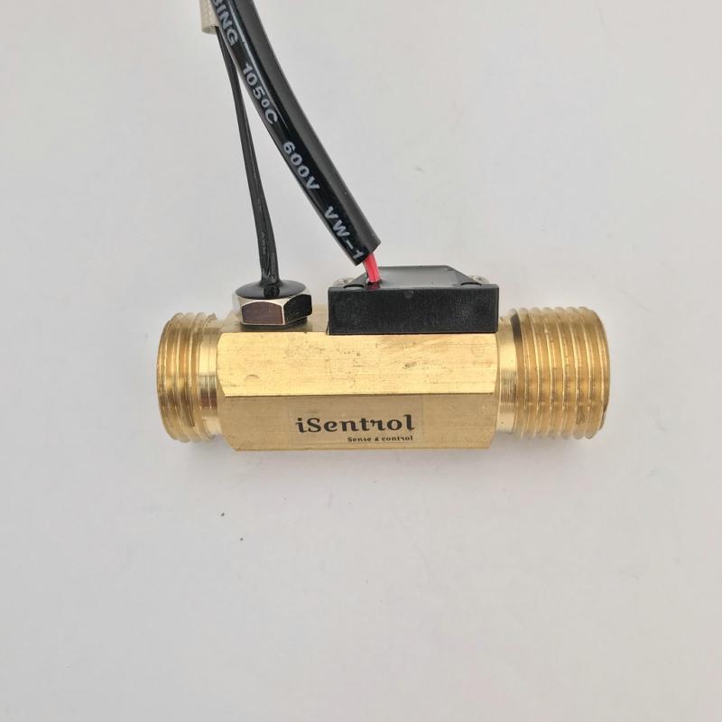 """USC-HS21TLT Bajo consumo de Efecto Hall Sensor de flujo de agua con NTC10K B = Temperatura de 3435. Sensor Immersion1-30L / min BSP G1 / 2"""" caudalímetro"""