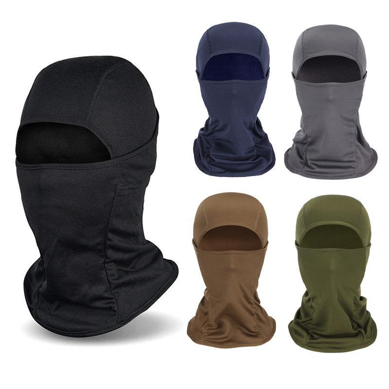 Extérieur coupe-vent Balaclava visage plein masque visage Protection UV Moto Vélo Ski Sun capot tactique Cap pour les femmes hommes