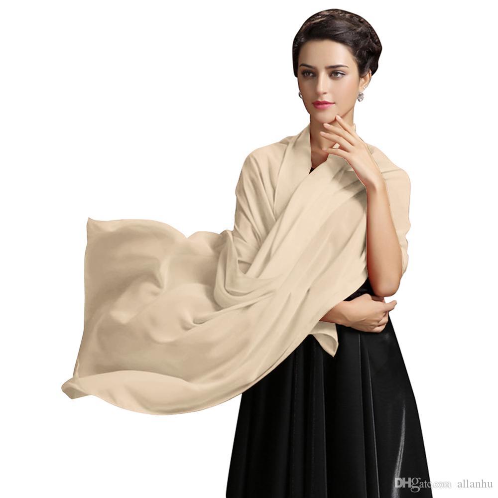 2019 New Arrival Cheap Women's Chiffon Silk Shawls Scarfs Sunscreen Wild Wrap Beach Neckerchief Cheap Long Scarves In STOCK CPA1658