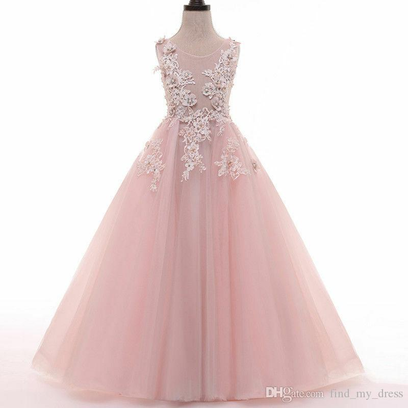 Pageant Flower Girl/' Dress Kids Birthday Wedding Bridesmaid Gown Formal Dresses
