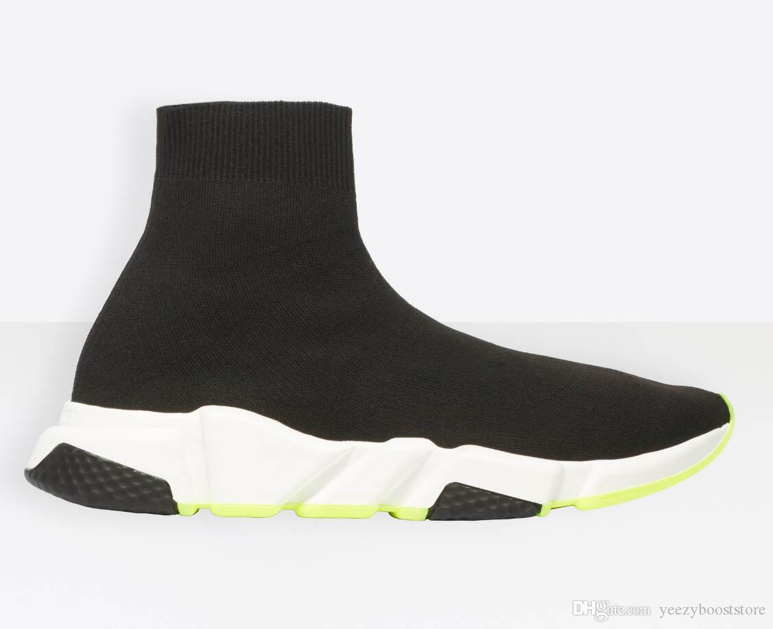 هوت سبور سرعة مدرب الأسود أبيض أخضر أسفل الرجال الجوارب النسائية أحذية عارضة أحذية سرعة عداء مع غبار حقيبة