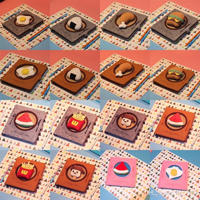 Creative Foodie Loose Leaf Notebook 74 Designs Soft Copybook Spiral Hand Account Dairy Books Stationery Festival Gifts 08
