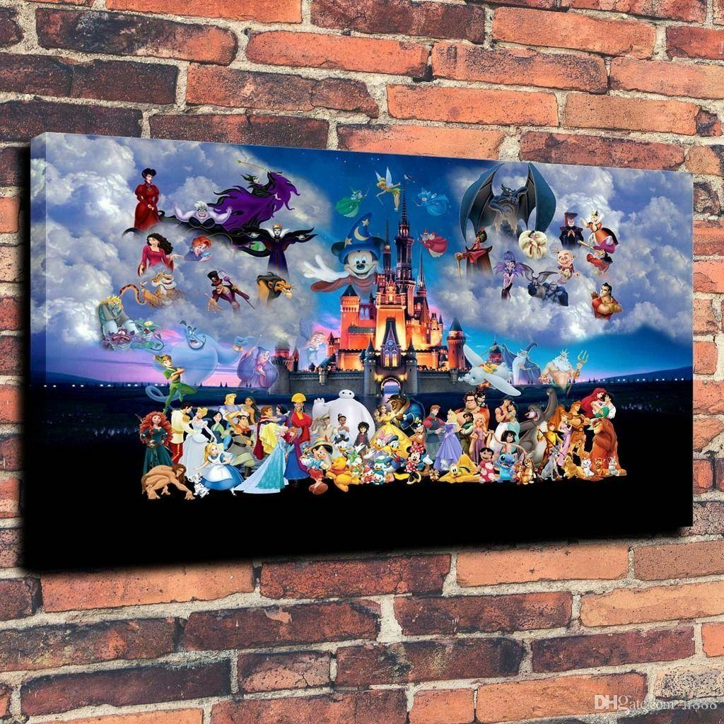 Castle Cartoon Characters Home Decor Handpainted &HD Print Oil Paintings On Canvas Wall Art Pictures 191103