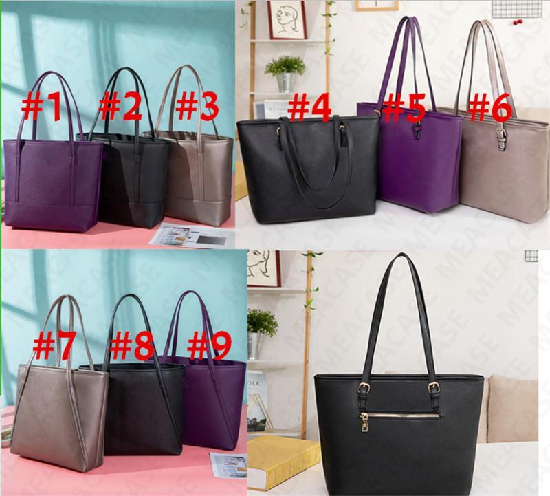 KS Frauen Handtaschen One-Schulter-Beutel-Entwerfer PU-Leder-Luxus-große Kapazitäts-Einkaufstasche für die Dame Art und Weise beiläufigen Einkaufen Reisetaschen D7306