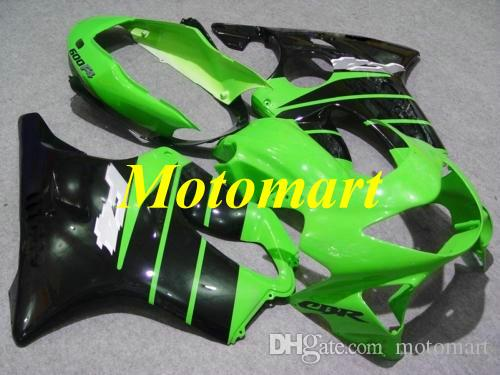 Injection mold Fairing kit for HONDA CBR600F4 99 00 CBR 600 F4 1999 2000 ABS Green black Fairings set+gifts Hi02