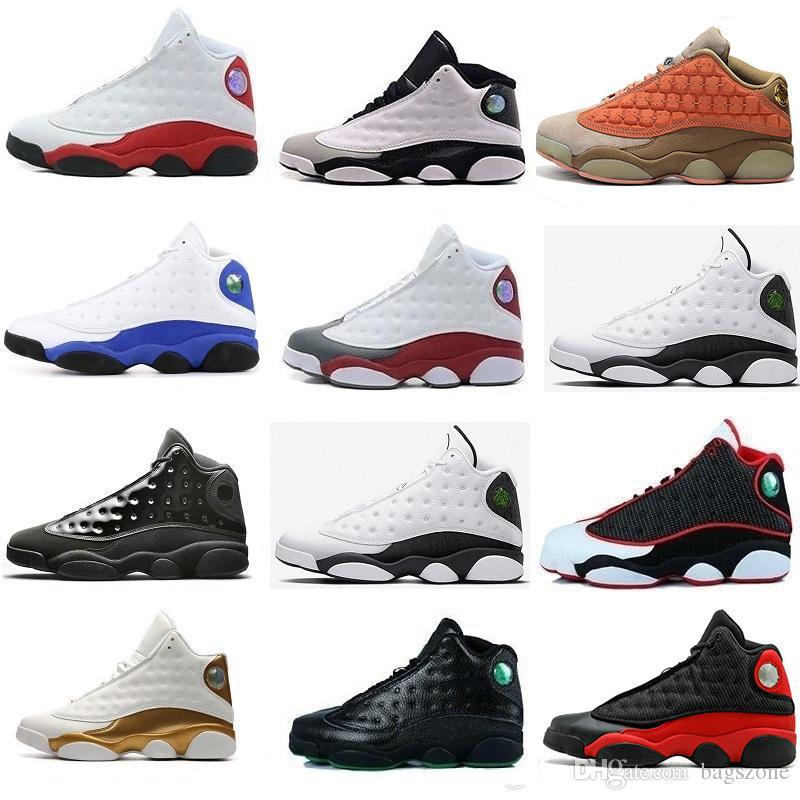 New 13 HYPER ROYAL Olive Bordeaux amor do dia e respeito Chicago criados tênis de basquete 13s trigo Homens Sports J13 Sapatilhas