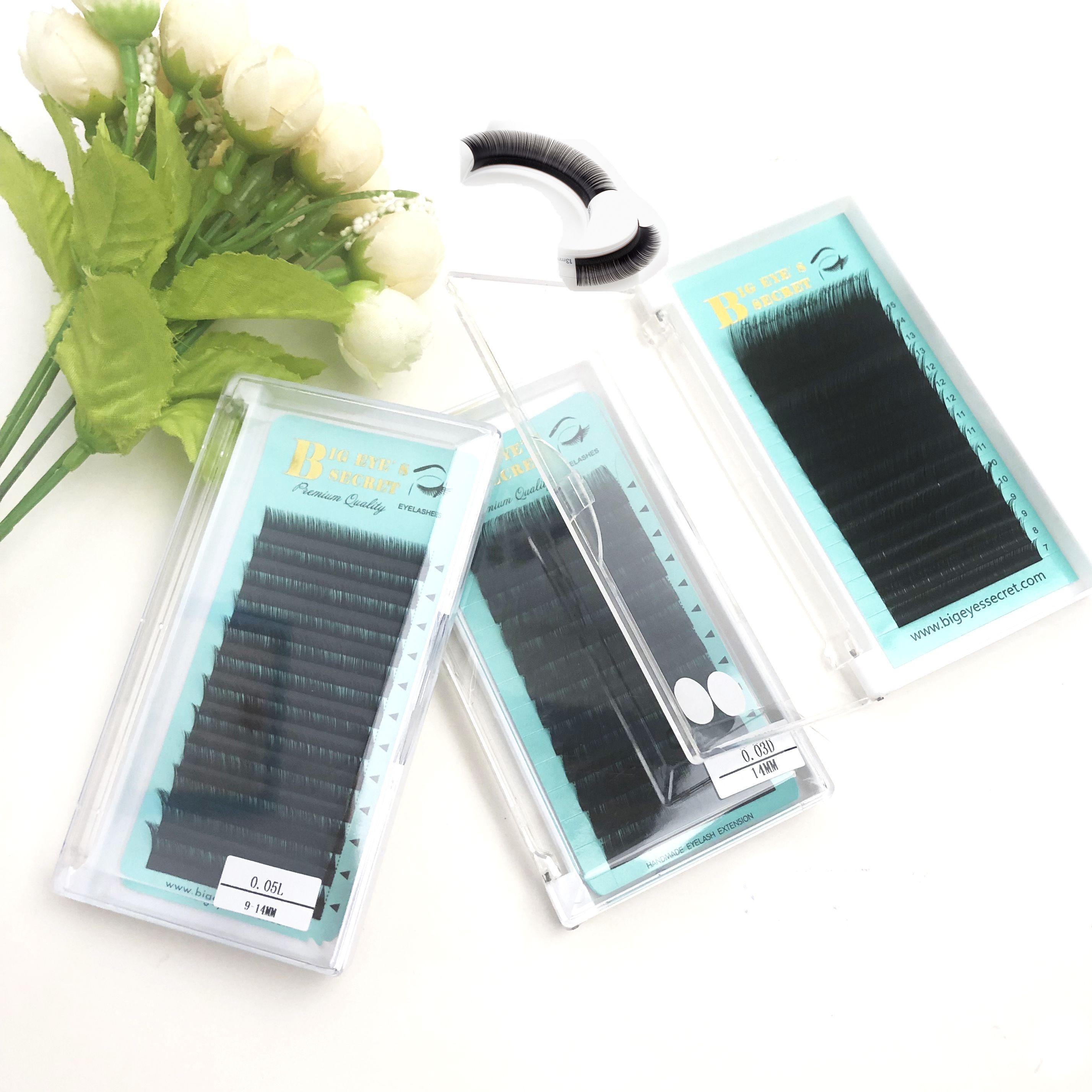 Handmade high quality Wholesale 2D 3D 4D 5D 6D Volume Eyelashes Handmade Loose Korea Long stem Pre Fanned Lashes