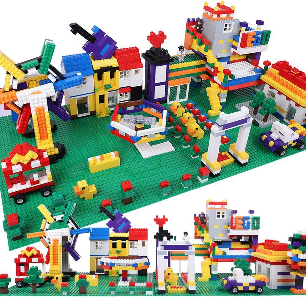 Quality Baseplate Fit LegoINGs Building Blocks Double-sided 32*32 Dots Base Plate Small Bricks DIY Building Wall Block Figures