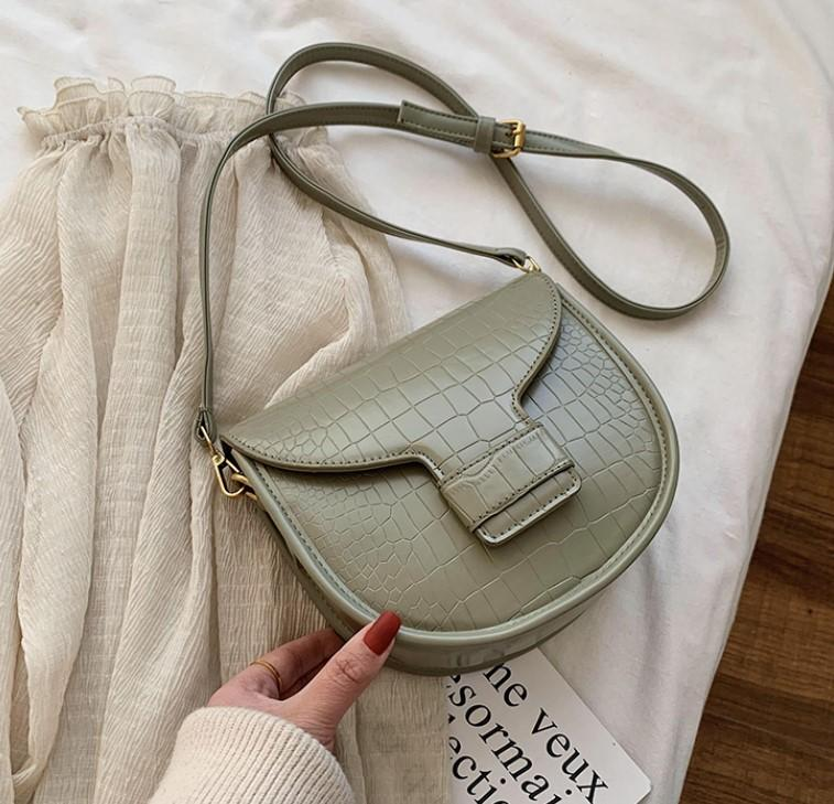 Designer bolsa de moda feminina Plain Saddle Bag Alligator Luxury Design Senior Crossbody garotas Alta Qualidade Bolsa de Ombro ///